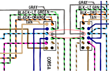 accurate wiring diagram for monza convertible p g question corsa dash connector as shown in the schematic